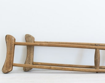 vintage wooden crutches