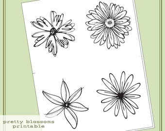 Instant Download Hero Arts Pretty Blossoms Printable Digital Kit PT002