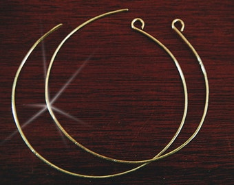 3 inch hoop Earrings, Extra Large Hoop Earrings, Fine Silver, Ultra Light Weight, Hoops, Simple Hammered Loops. 2 inch and 1 inch avail.