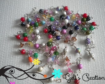 100 Pre-made dangle charm beads for bottlecap necklaces, jewelry, etc..