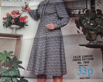 1970s My Weekly Pattern no. 7849 Perfectly Petite Day Dress