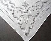 Wedding Handkerchief, Vintage, Hankie, Cutwork, Handkerchiefs, Hankerchief, Rolled Hem, Ladies Handkerchief, All Vintage Hankies