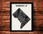 Washington DC Map Art Print   Washington DC Print   Washington DC Art Print   Washington dc Poster   Washington dc Gift   Wall Art