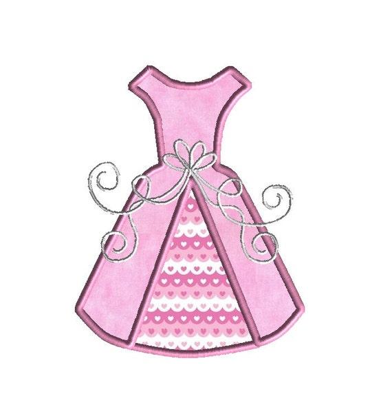 Wedding Dress Applique Machine Embroidery DesignINSTANT