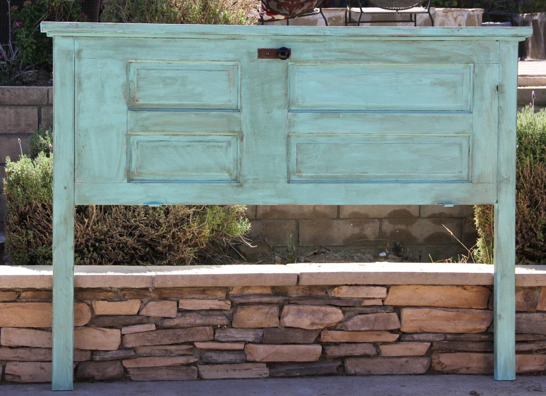 Western Inspired Room Love The Headboard With Old Doors: Repurposed Wood Door Headboard Queen King Full/ Double Twin