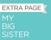 My Big Sister - Extra Sheet for the Baby Steps Book
