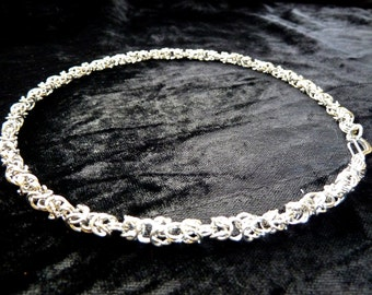 Byzantine Stainless Steel (4mm) Chainmail Jewellery Necklace