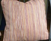 Reversible Jewel Tone  Pillow Cover in Plum, Paprika & Gold - 20 x 20 - Self Corded with Invisible Zipper