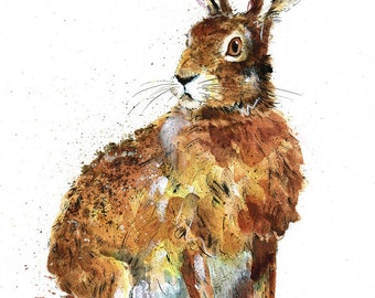 Mounted Limited Edition Giclee Print of  'Lord Armstrong' Hare