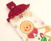 Crochet Christmas Hanging Dish Towel Holiday Decoration
