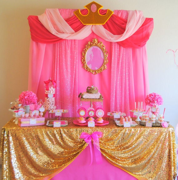 Sleeping beauty party disney princess party by krownkreations for Sleeping beauty wedding table