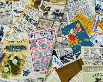 6384D - 1 yard  Cotton Linen Blend Fabric - Pleasant Vintage Magazine