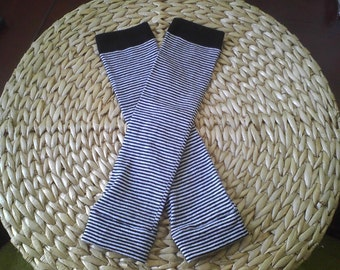 Baby Leg Warmers by LoveBug  Black and White Stripes