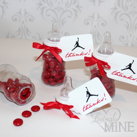 jordan jumpman inspired baby shower favors plastic baby bottles 12
