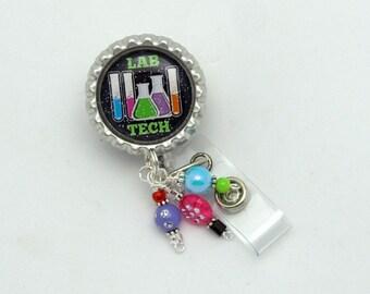 Lab Tech Retractable Badge Reel - Medical Badge Clips - Designer Badge Reels - Hospital ID Holders - Lab Badge Reels - Fun Badge Pulls