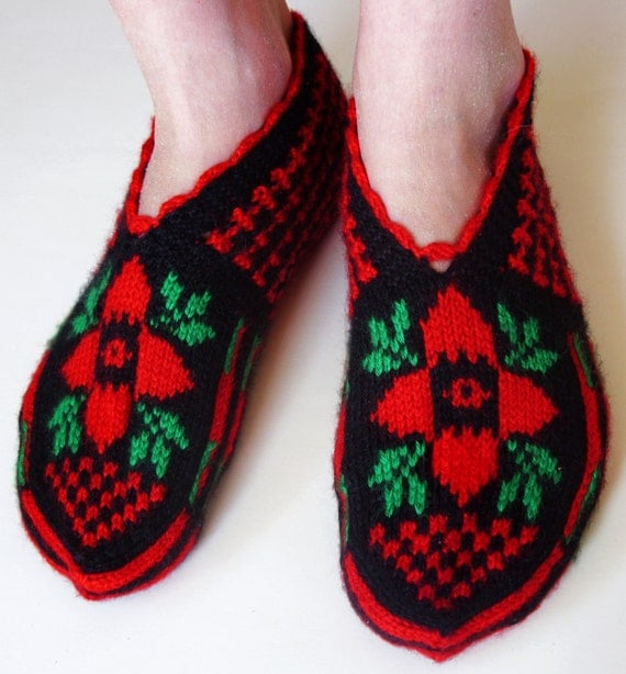 Turkish slippers Hand knitted female slippers by galapagospg