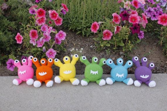 Items similar to Crocheted Amigurumi Mini Monster, Alien ...