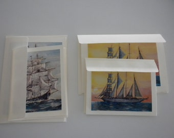 Tall Ship Note Card Set   Original Art Photos