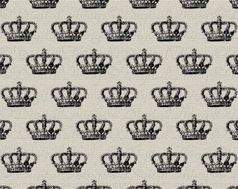 French Crown Digital Background Pattern Wall Decor Art Printable Digital Download for Iron on Transfer Tea Towel Fabric Pillows DT916