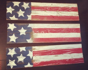 Reclaimed wood flag, just in time for 4th of July!