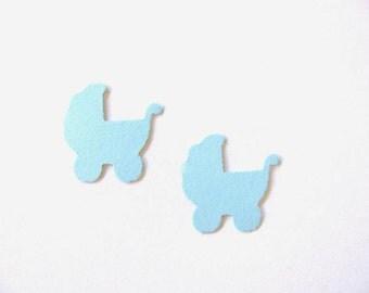 Confetti - 200 CARDBOARD prams - New Born Baby - Baby shower - Decor - Baby boy - Blue