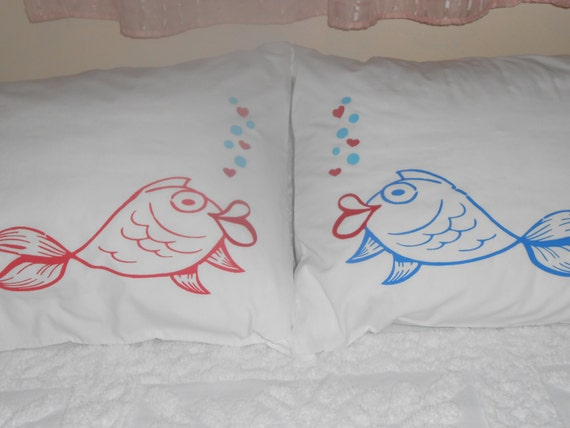 Kissing Fish Bedroom Decor Standard Pillowcases By Treasuresshop