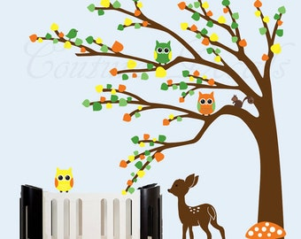 Childrens forest nursery wall decal - 0212