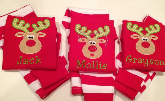 Christmas pajamas for infant toddler child. Happy Silly