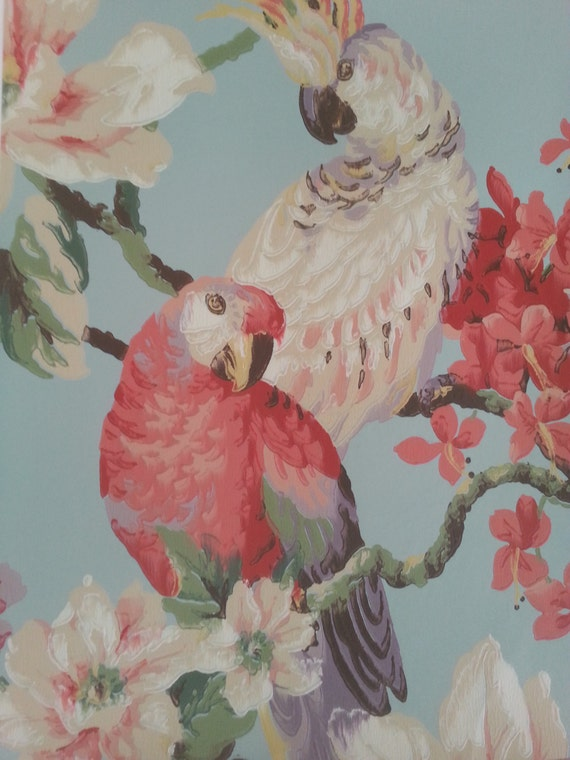 items similar to vintage wallpaper on etsy