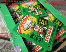 1 Pack of Vintage Garbage Pail Kids Sticker Cards Dated 1986 Series 3 Unopened Pack of Cards 80s 3rd Series GPK Collectible Cards 1980s VTG