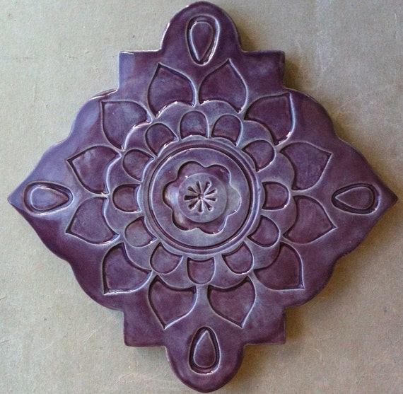 Ceramic Trivet Art Tile Wall Hanging By Artcrafthome On Etsy