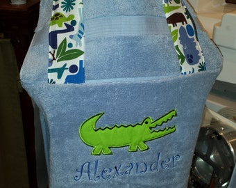 Alligator Hooded Bath Towel Wrap Beach Towel Wrap Toddler Baby Children Kids Personalized - FREE MONOGRAMMING
