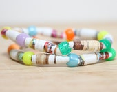 If You Give A Mouse A Cookie, Recycled Paper Bead Bracelet, Made From Book pages, Librarian Gift, Teacher Gift, Book Lover