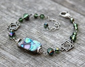 Abalone shell link bracelet Bridesmaids gifts Free US Shipping handmade Anni Designs