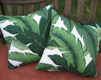 Tommy Bahama Green Palm Leaf pillow cover - Beverly Hills Hotel - Tropical - various sizes
