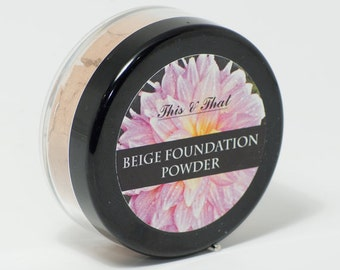Natural and organic Powder Foundation SAMPLE- non-toxic, detoxifying, mica free