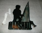 3D Lighted Reading Light Fisherman Fisher Boy Personalized with Name and Choice of 2 Colors