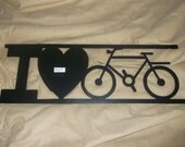 I Love Biking Wall Decor Sign Use Inside or Outside or With A Craft Project! Bike Bicycle