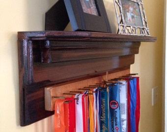 race medal display ribbon hooks trophy shelf tie storage jewelry hooks