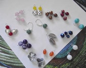 """12 Pairs in 1 - """"Change Your Look"""" Earrings with Sterling Silver Lever Back Hooks"""