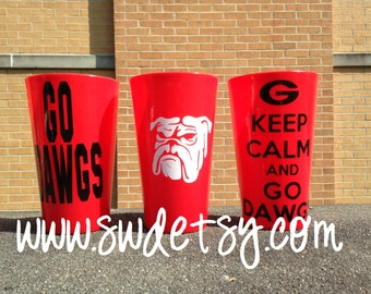 Georgia tailgating tumbler, UGA, Georgia Bulldogs, Graduation Gift