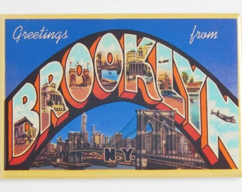 Greetings from Brooklyn New York Fridge Magnet