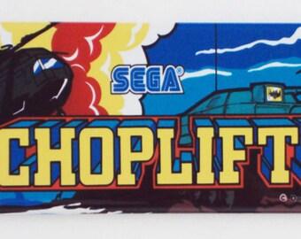 Choplifter Arcade Marquee Fridge Magnet (1.5 x 4.5 inches)
