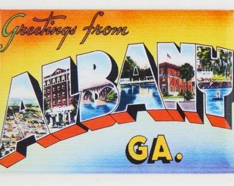 Greetings from Albany Georgia Fridge Magnet
