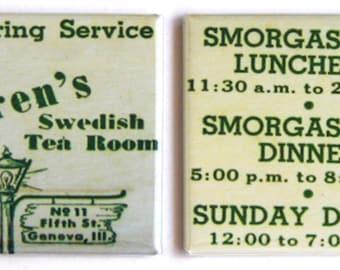 Karen's Tea Room Fridge Magnet Set