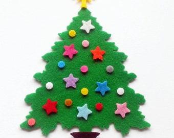 Felt Christmas Tree UNASSEMBLED, 4 Christmas Tree