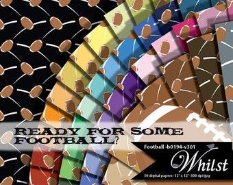Football digital paper, football clip art, clipart, digital scrapbooking, team colors : b0194 v301