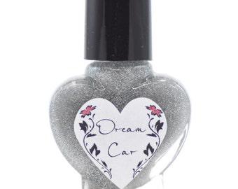 Dream Car Silver Holographic Glitter Nail Polish 5ml Mini Bottle
