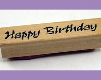 Rubber Stamp Happy Birthday