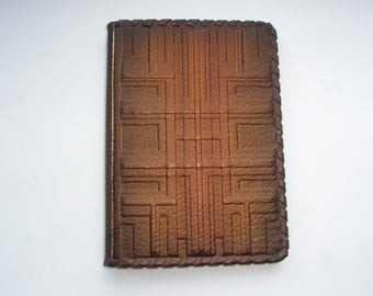PASSPORT COVER HOLDER -  Personalized Leather Travel Gift Art Craft Handmade #5